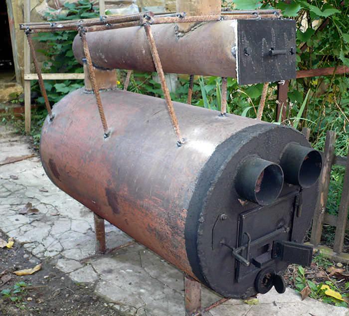 Простой отопительный агрегат можно соорудить самостоятельно