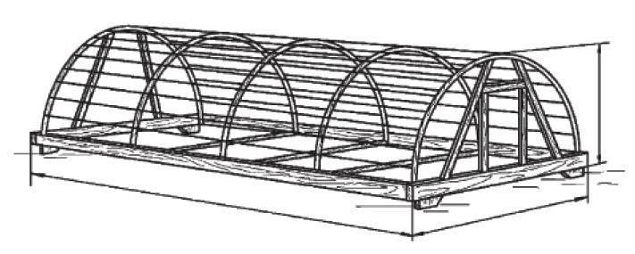 Переносная теплица с каркасом из полиэтиленовых труб