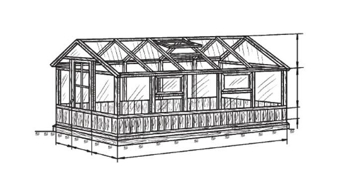 Схема весенней теплицы облегченной конструкции