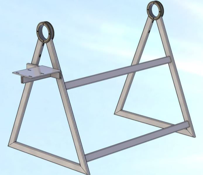 Боковые стойки сваривают из подкосов, швеллера, разрезанного на элементы, и уголков
