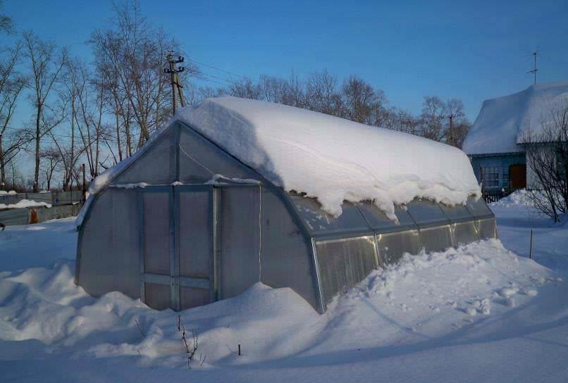 Теплицы от GLASS HOUSE не нуждаются в демонтаже на зимний период