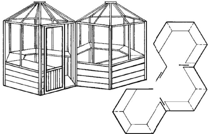 Специально изготовленные теплицы, малые серии, а также облегченные формы образуют еще целый ряд конструкций