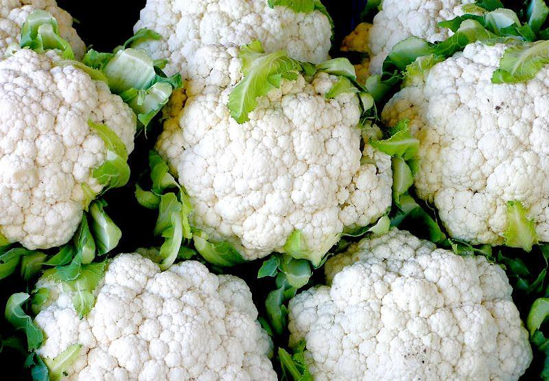 Славится цветная капуста и повышенным содержанием пектина и пищевых волокон