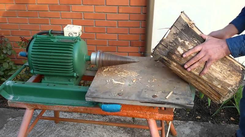 Ввиду относительно высокой стоимости конусного дровокола некоторые мастера предпочитают сделать конусный дровокол винтовой самостоятельно