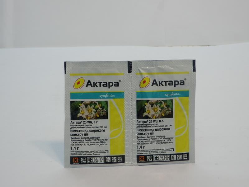 Актара – инсектицид нового поколения создан на основе тиаметоксама — синтетического вещества обширного спектра воздействия