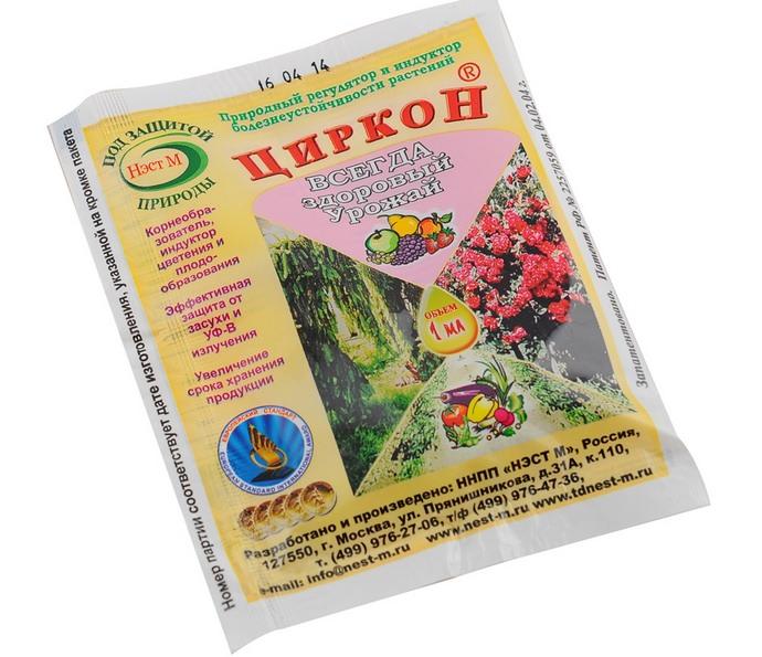 Раствор Циркон оказывает благоприятное воздействие на растения