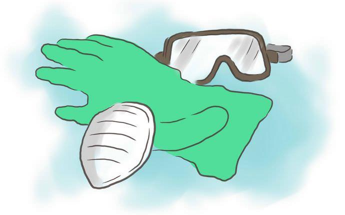 Применение Фундазола должно сопровождаться использованием респиратора и прочных перчаток