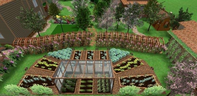 Надо заранее распланировать, какие виды деревьев и кустарников будут расти в определенных местах