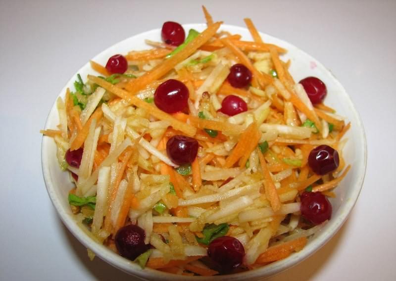 Салат из топинамбура овощной очень быстро готовится
