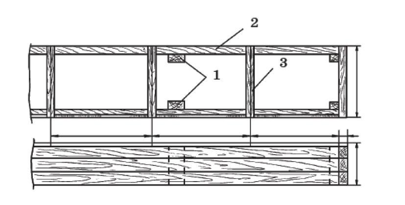 Наземный парник: 1 - столбики; 2 - доска обрезная; 3 - парниковая рама