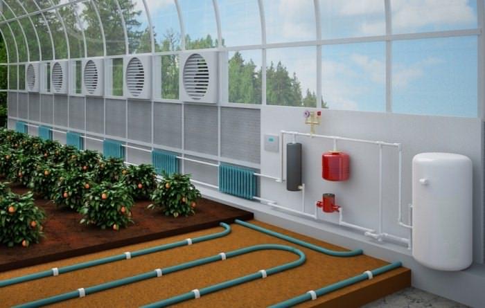 Обогрев грунта водяным отоплением требует установки своими руками дополнительных труб непосредственно на тепличные гряды