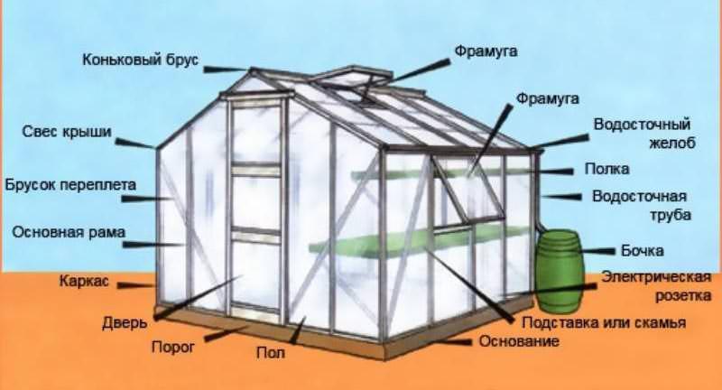 Монтаж теплицы всегда предполагает учёт некоторых требований, которые предъявляются к месту под такую конструкцию