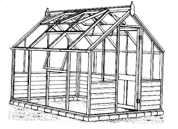 Выполнить деревянный тепличный каркас под силу даже тем, кто никогда не занимался строительством и имеет стандартный набор строительного инструмента