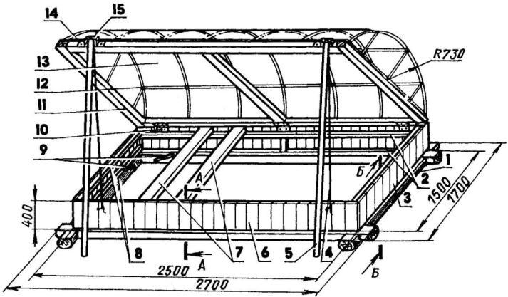 Подробный чертеж позволит изготовить конструкцию «Хлебница» самостоятельно