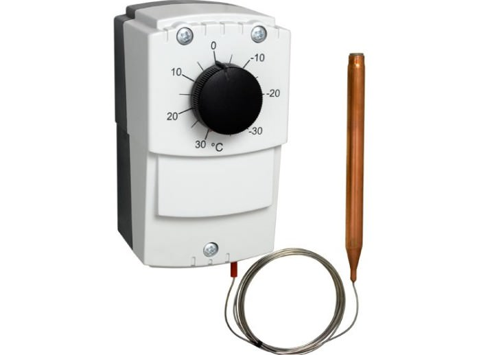 Механический термостат – наиболее простая установка, позволяющая контролировать температуру почвы