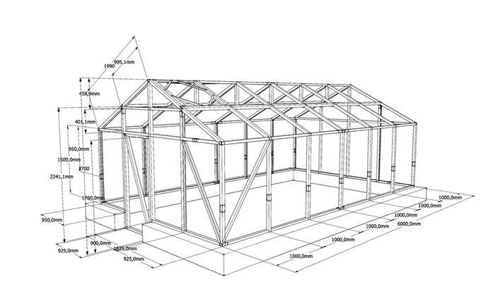 Установка тепличной конструкции выполняется поэтапно, а все действия должны выполняться в строгом соответствии с технологией строительства и чертежами таких сооружений