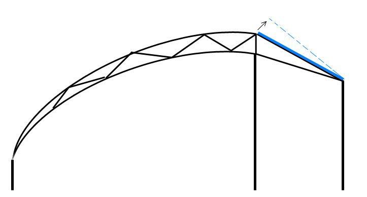 Для теплиц из Китая характерна полуарочная форма конструкции, которая ориентирована по направлению восток – запад