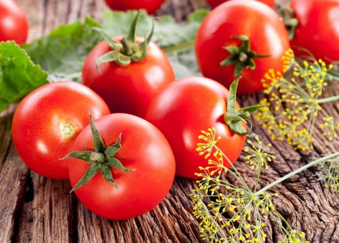 Свежие томаты Волгоградские богаты такими микроэлементами, как витамин С, каротин, фолиевая кислота, железо и сахар