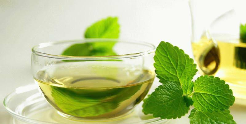 Благодаря ментолу мятный чай облегчает дыхание при простуде, снимает головную боль