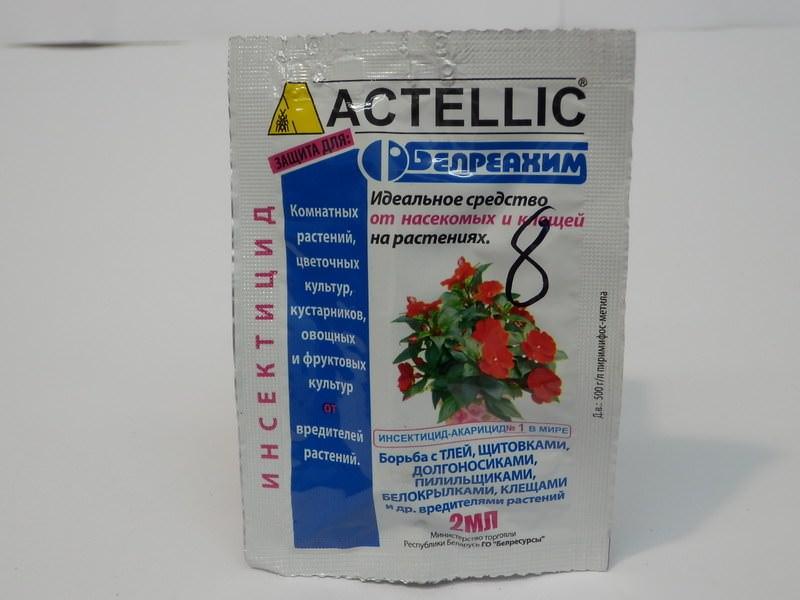 Активное вещество актеллик – пиримифосметил, обладающее глубинным действием