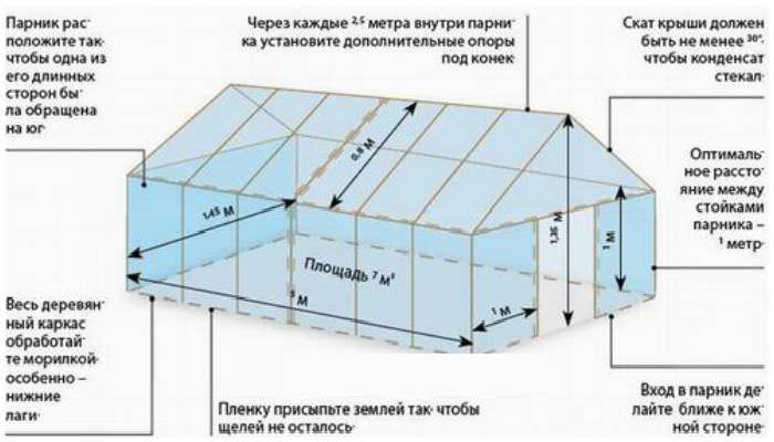 Двухскатные тепличные конструкции являются наиболее распространённым вариантом сооружений, которые выполняются огородниками своими руками