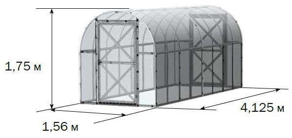 Каркас тепличной конструкции комплектуется в три упаковки с общим весом в тридцать килограмм
