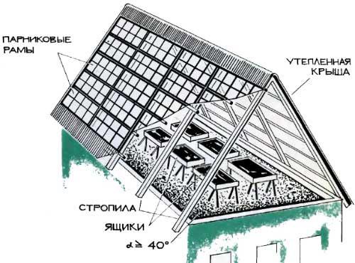 Стропильные балки необходимо возвести так, чтобы стык листов поликарбоната приходился точно в центральную часть стропил