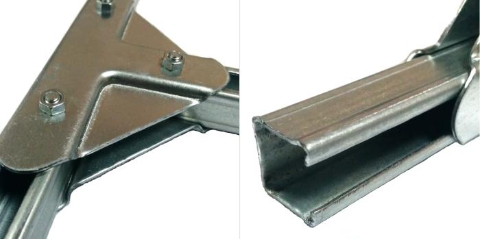 Детали из оцинкованной трубы не будут ржаветь, легко монтируются и не требуют покраски либо иной обработки